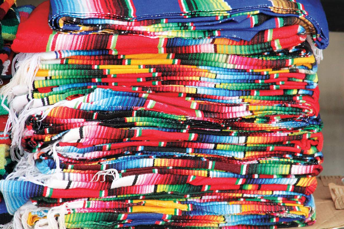 Colorful fabric, Puerto Vallarta