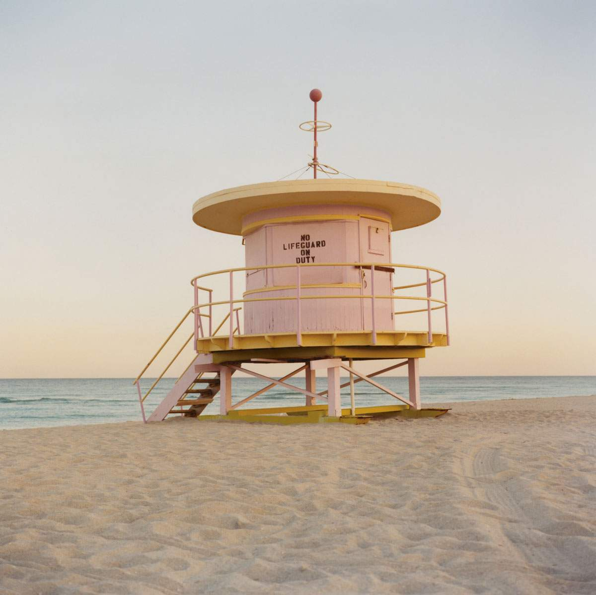 Lifeguard station on the beach in Florida