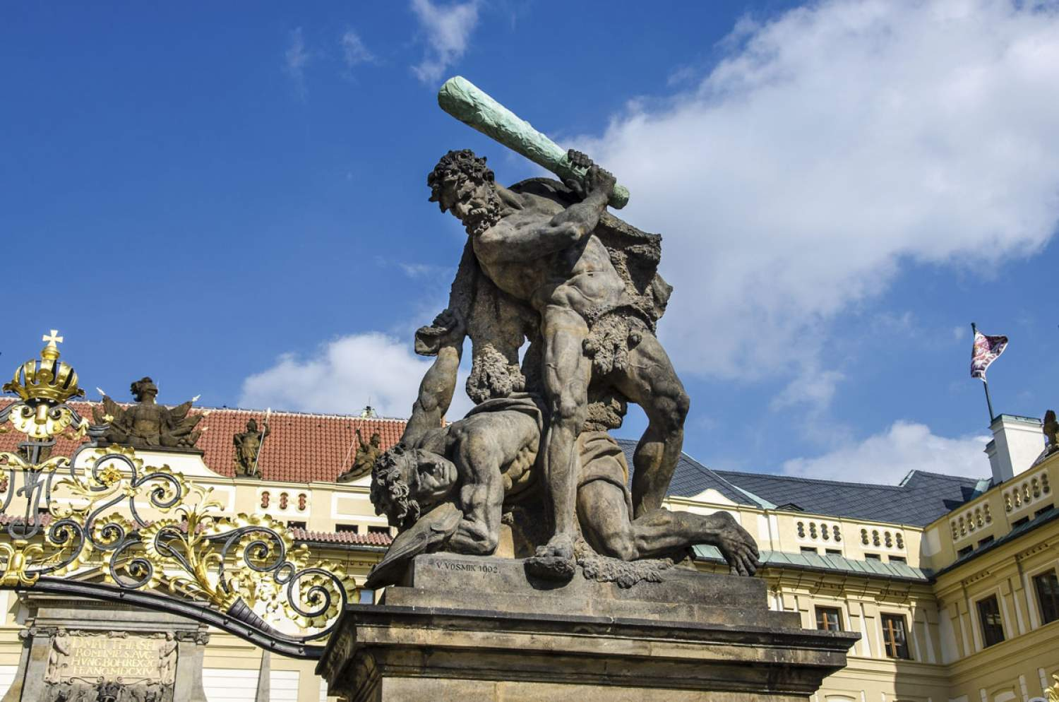 Statue in Prague, Czech Republic
