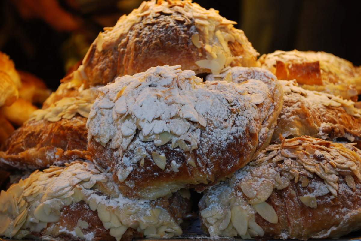 Almond croissants in Grignan, France