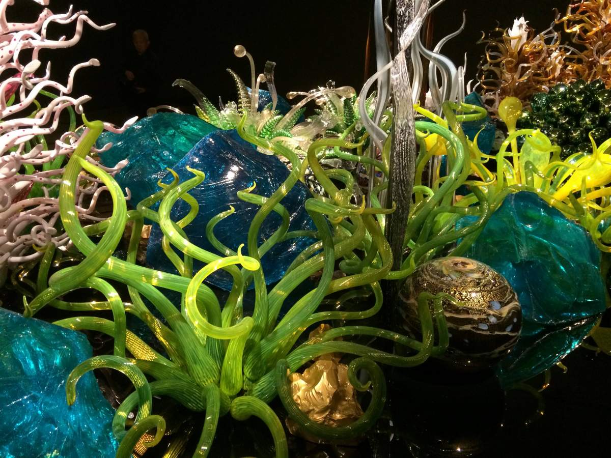 Blown glass by Chihuly at the Royal Ontario Museum in Toronto, Canada