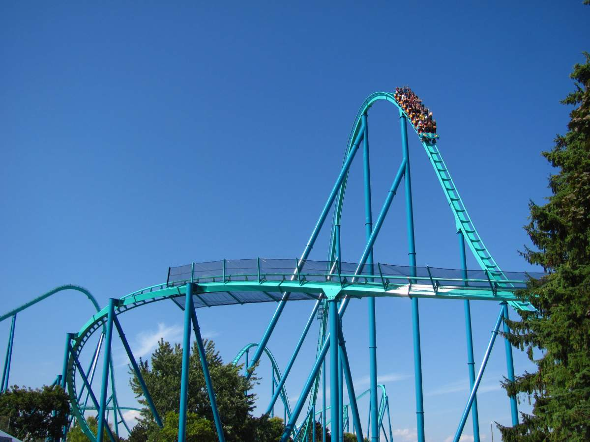 Rollercoaster at Canada's Wonderland in Toronto, Canada