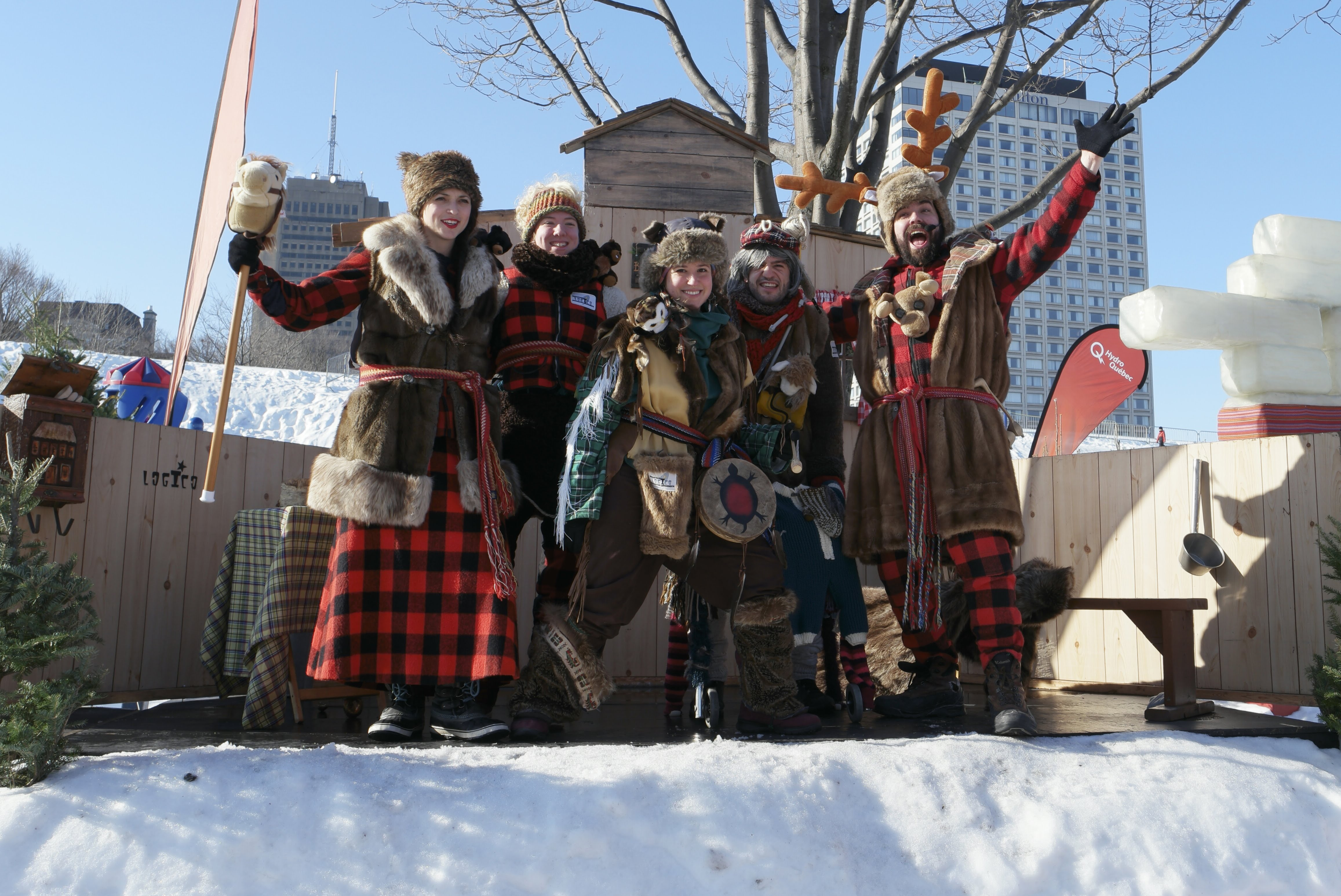 Typical costumes at the Quebec Carnival