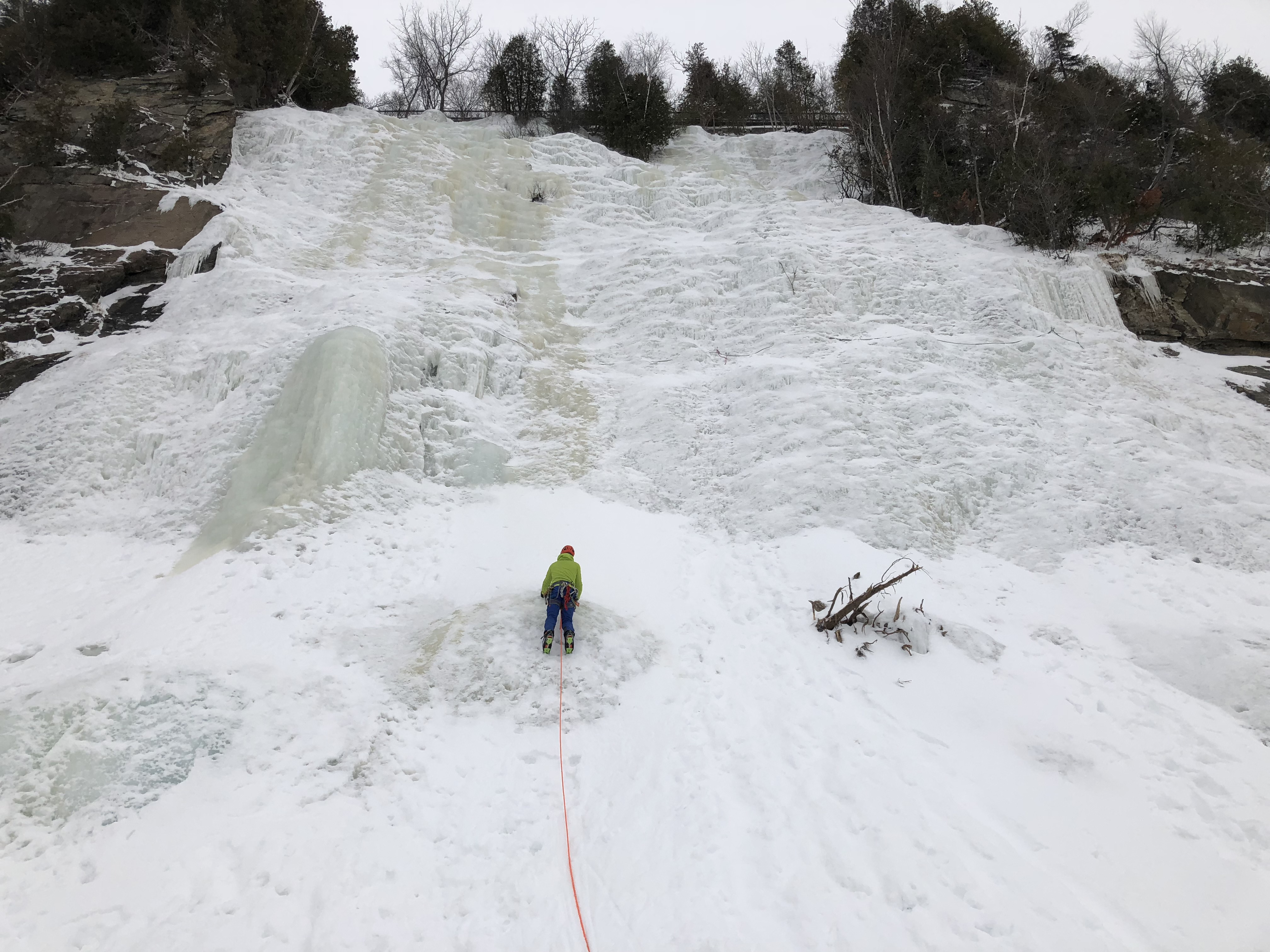 Ice climbing at the Montmorency waterfalls
