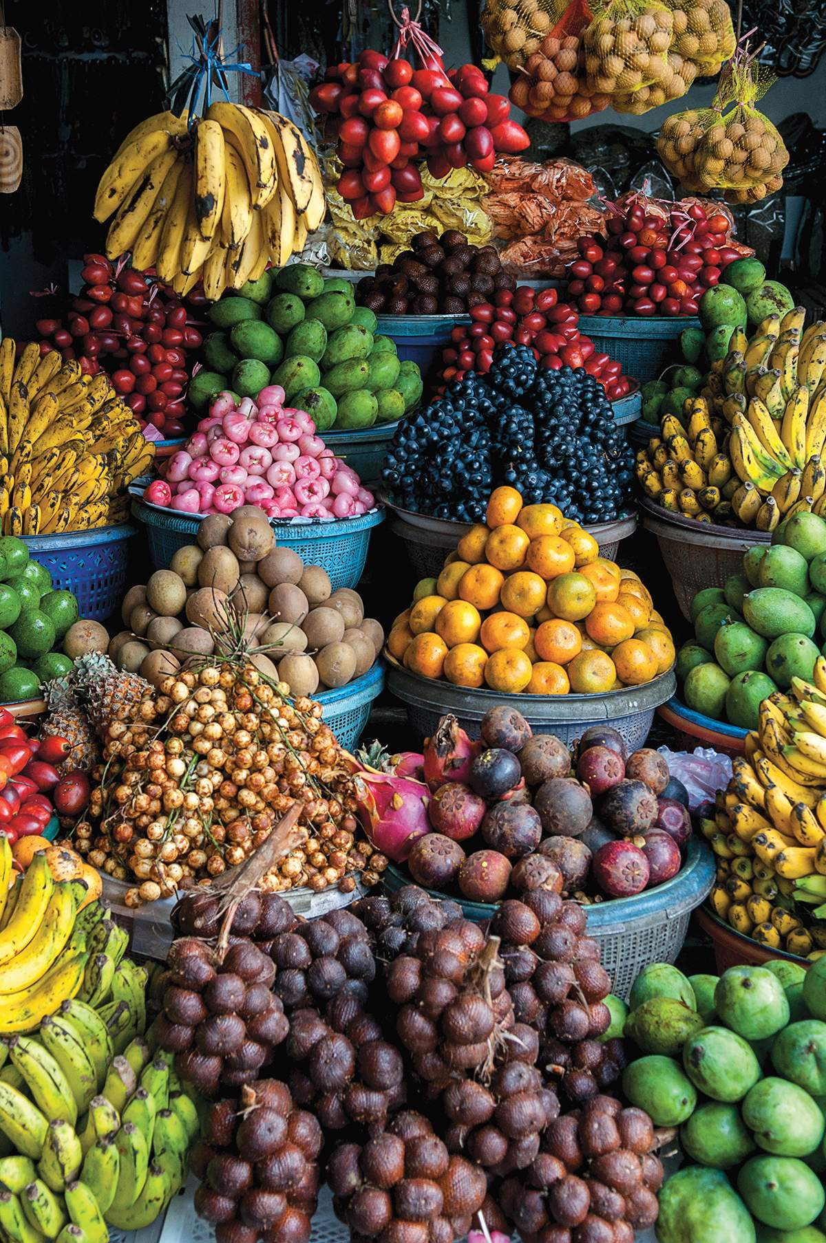 Marché de fruits, Colombie