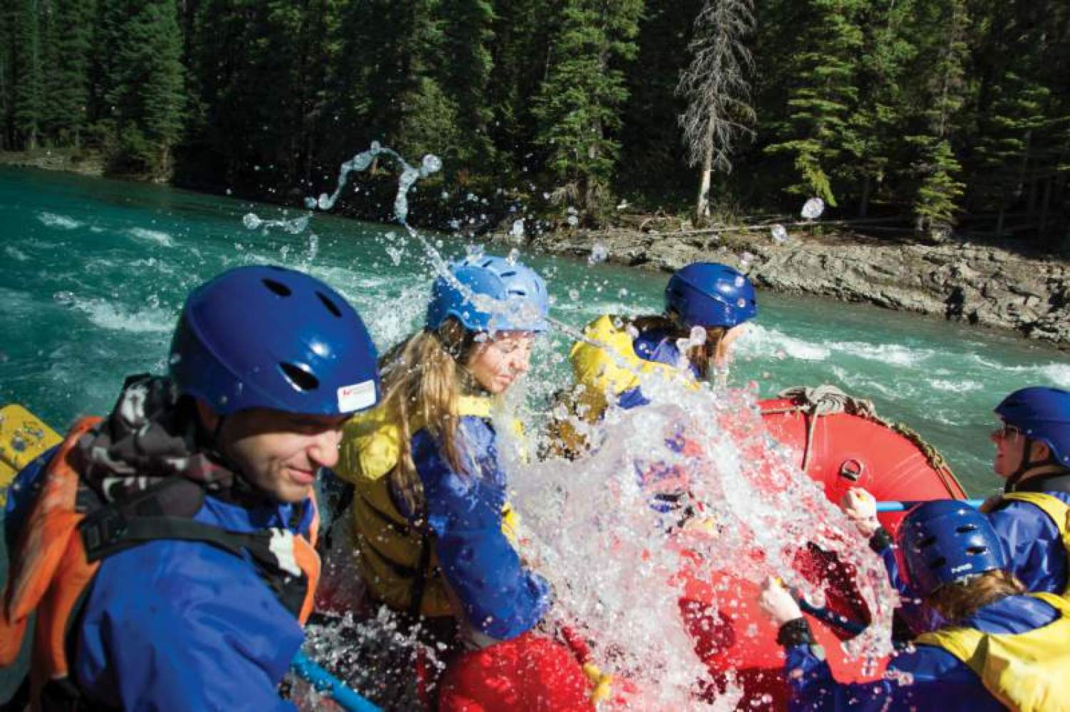Rafting in Lake Louise, Alberta