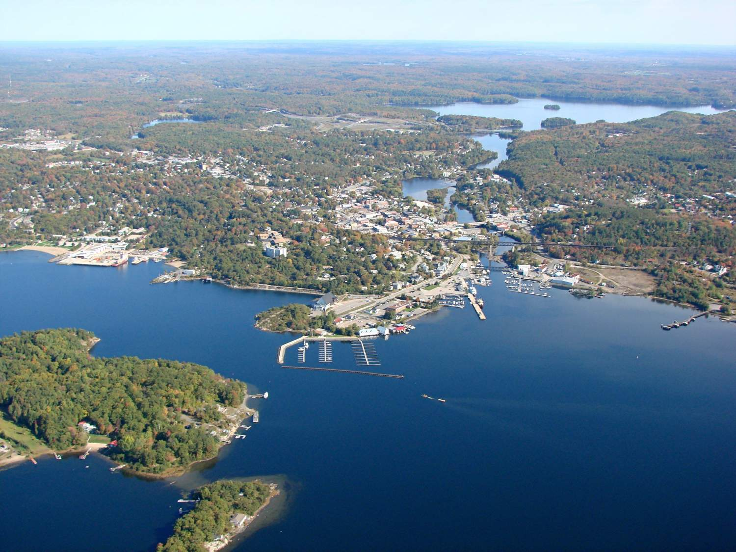 Overlooking Parry Sound, Ontario, Canada