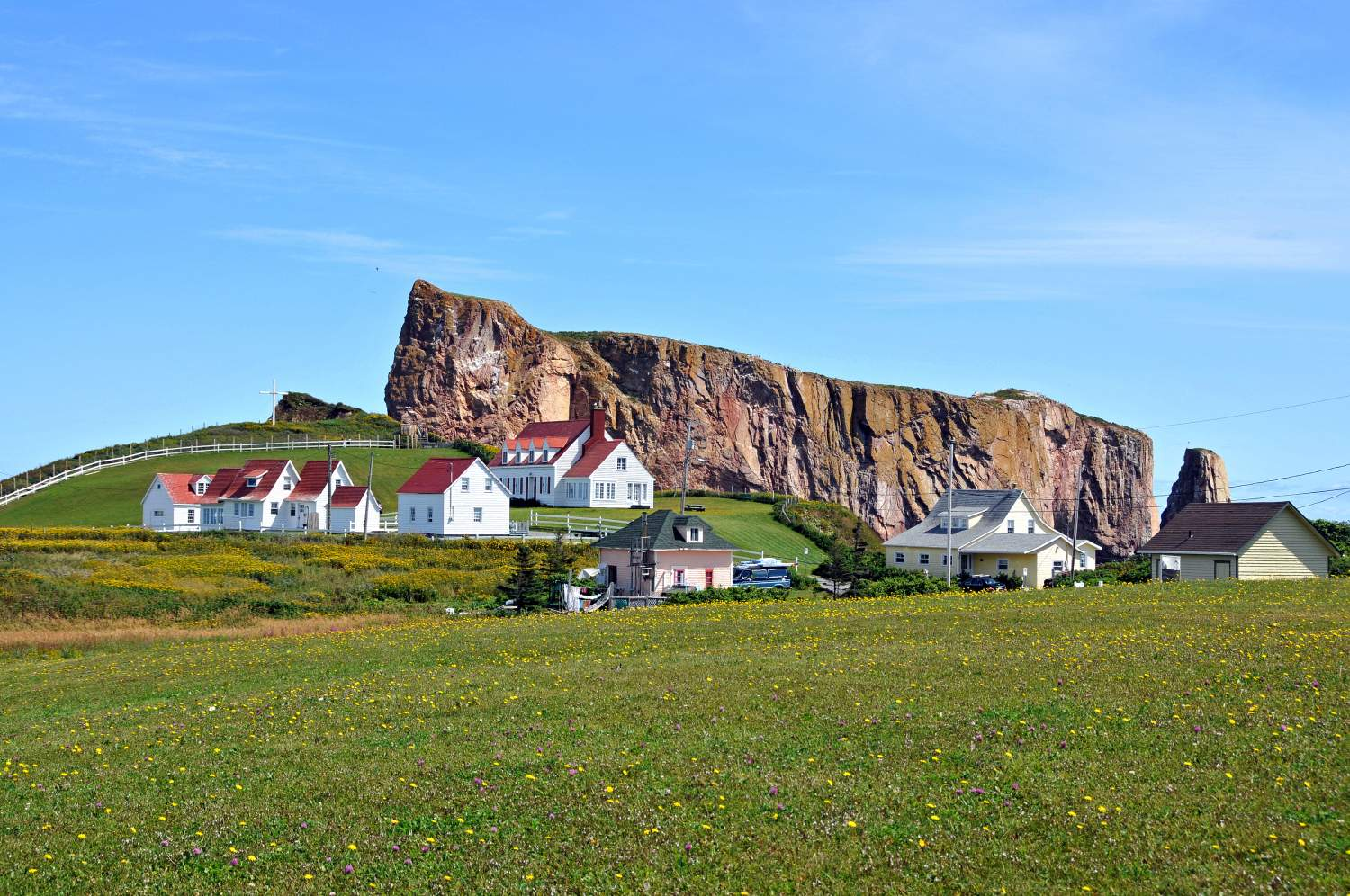 Perce city, Gaspesie, Canada