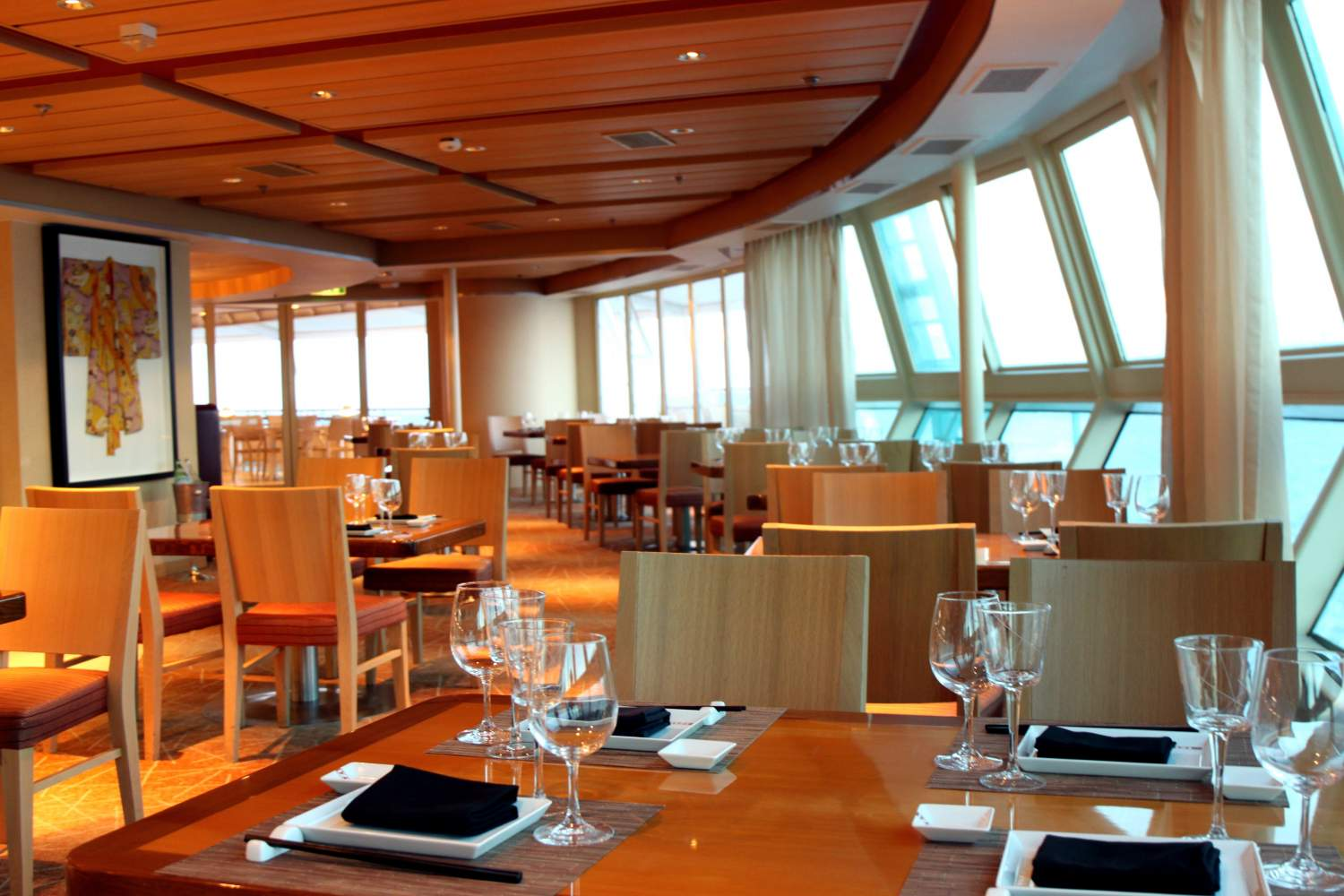 Restaurant on a cruising ship