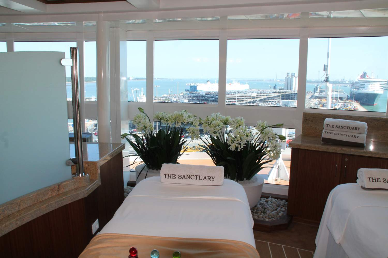 Massage at the spa on your cruising ship