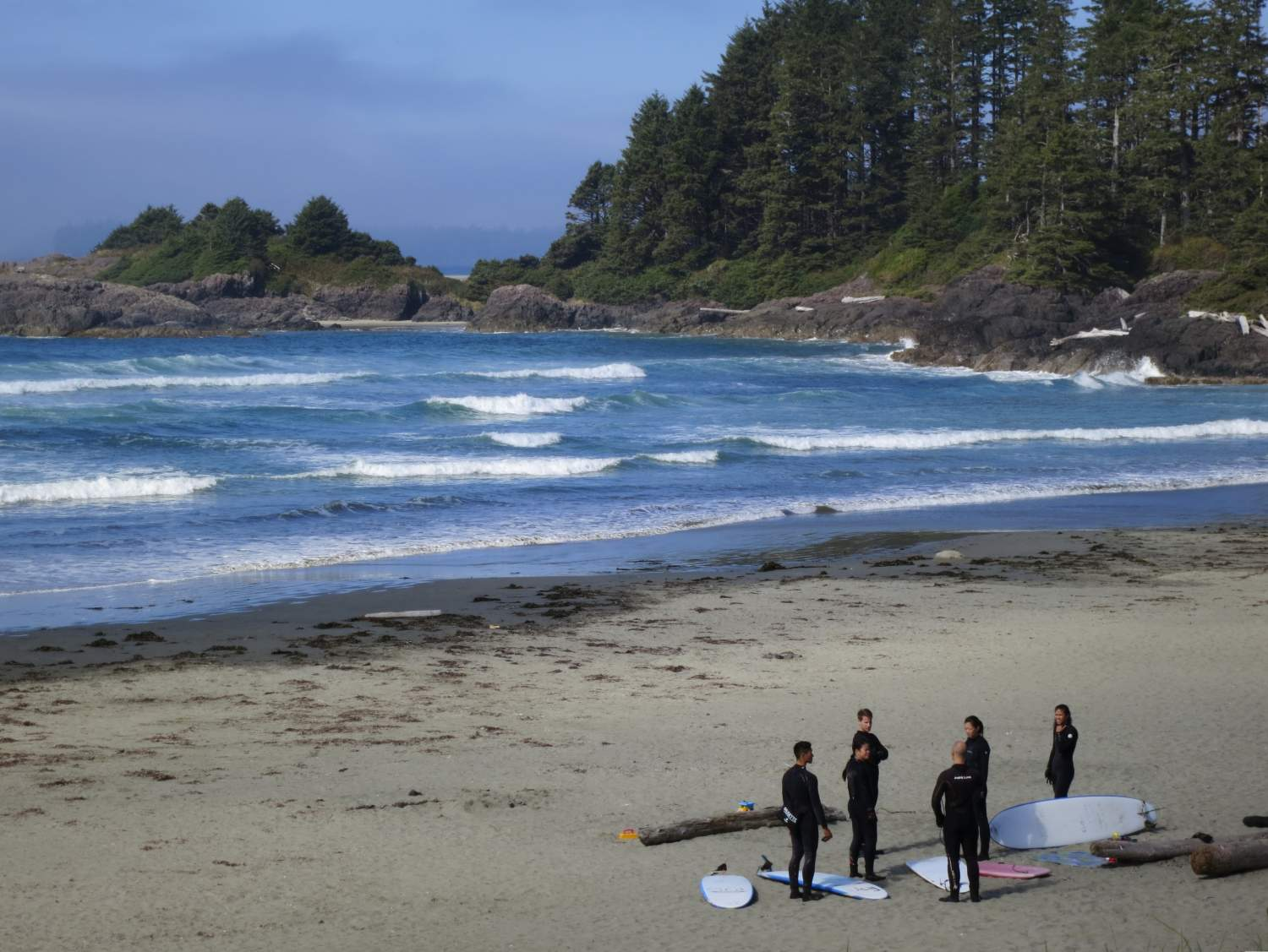 Surf lessons in Tofino