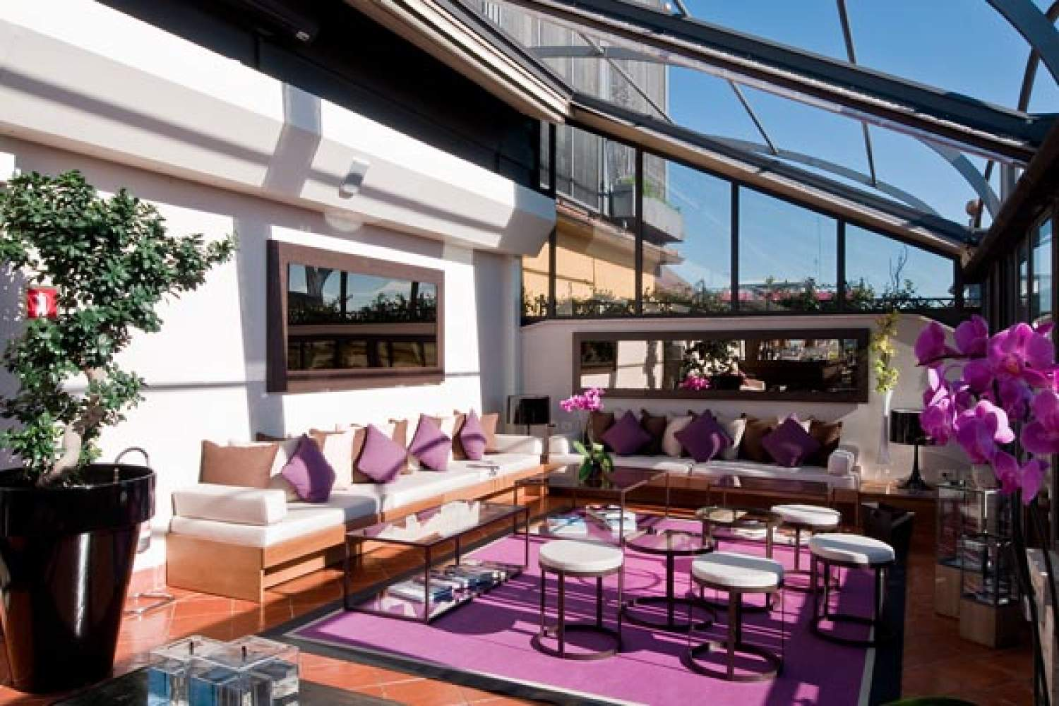 Terrace at the Sofitel hotel, Rome