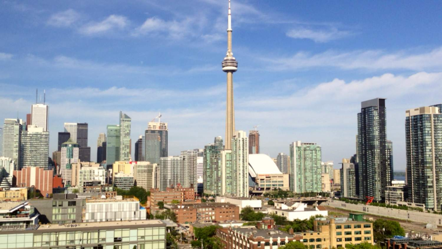 View of Toronto from the Thompson Hotel terrace