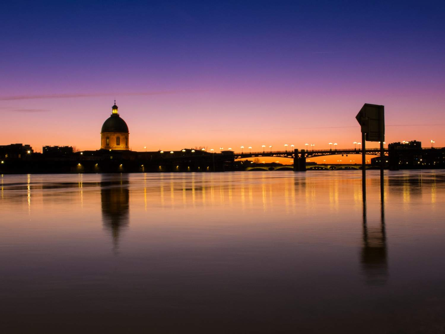 Sunset on Toulouse, France