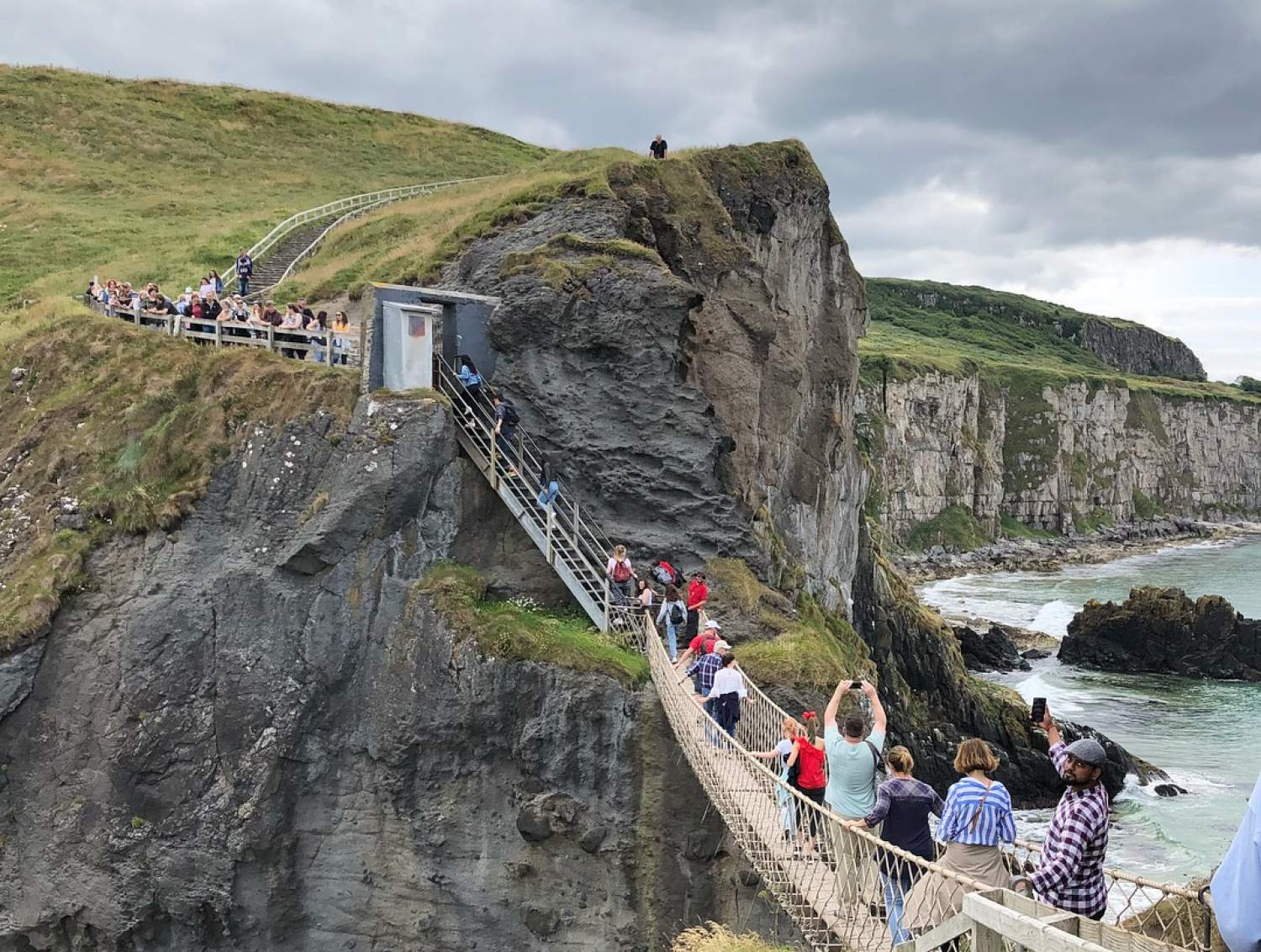 The famous suspended bridge of Ireland: Carrick a Rede