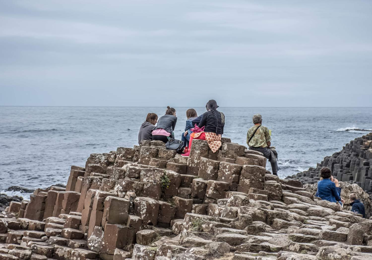 The giant causeway, cult area of Ireland
