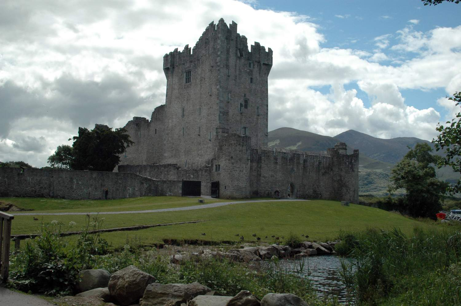 The Ross castle, to be seen on your Kerry ring road trip, Ireland