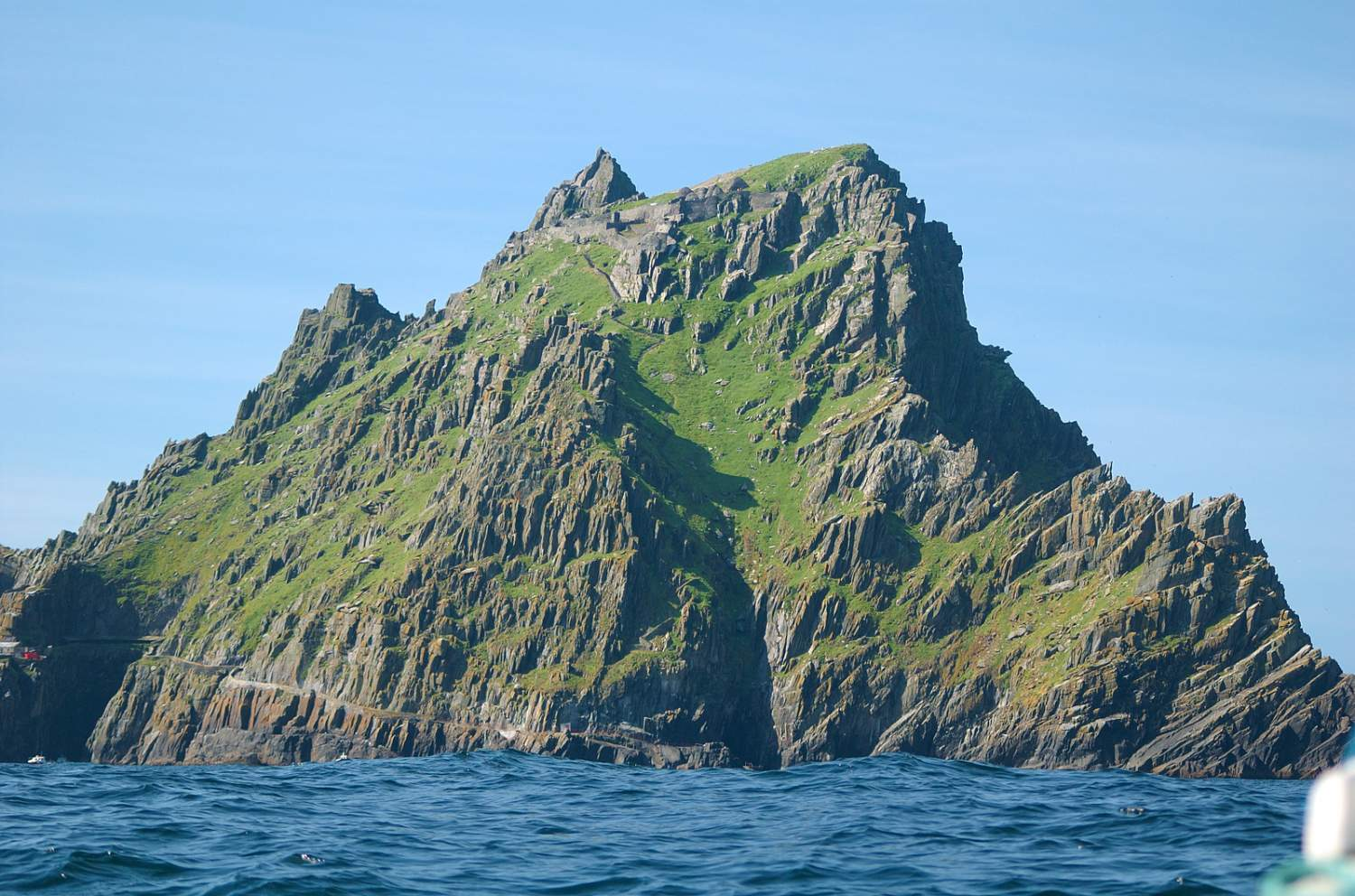 The Skellig Michael island seen from the ocean, Ireland