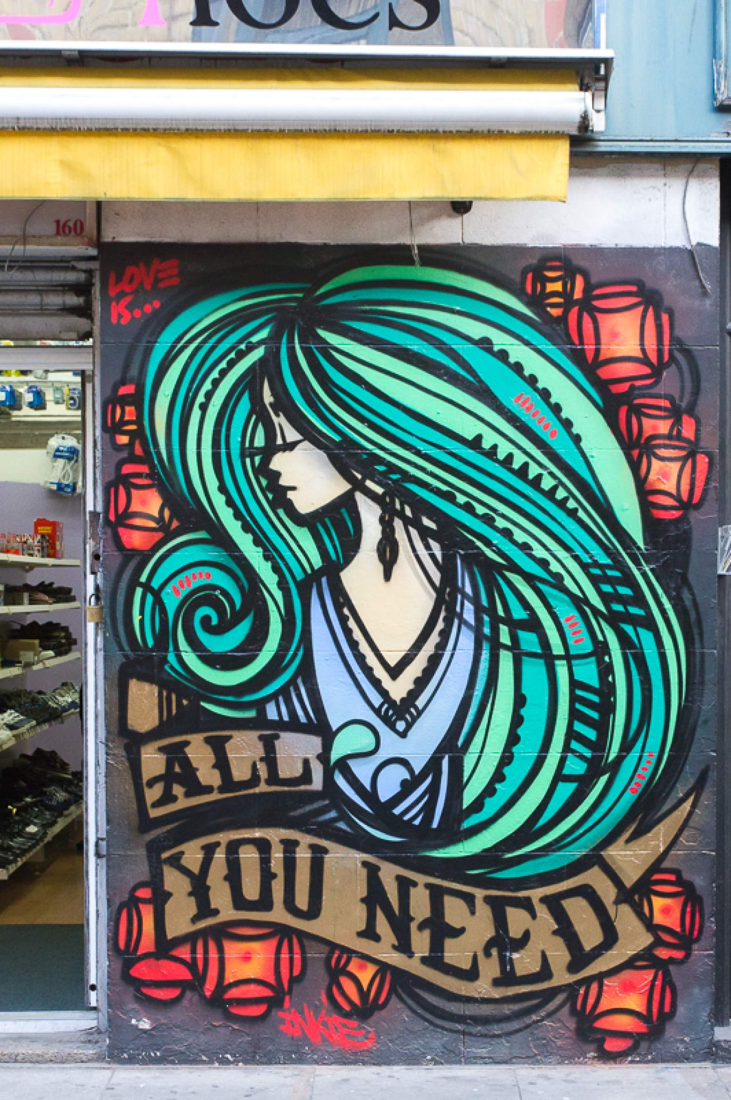 Graffiti d'une fille: All you need, Londres