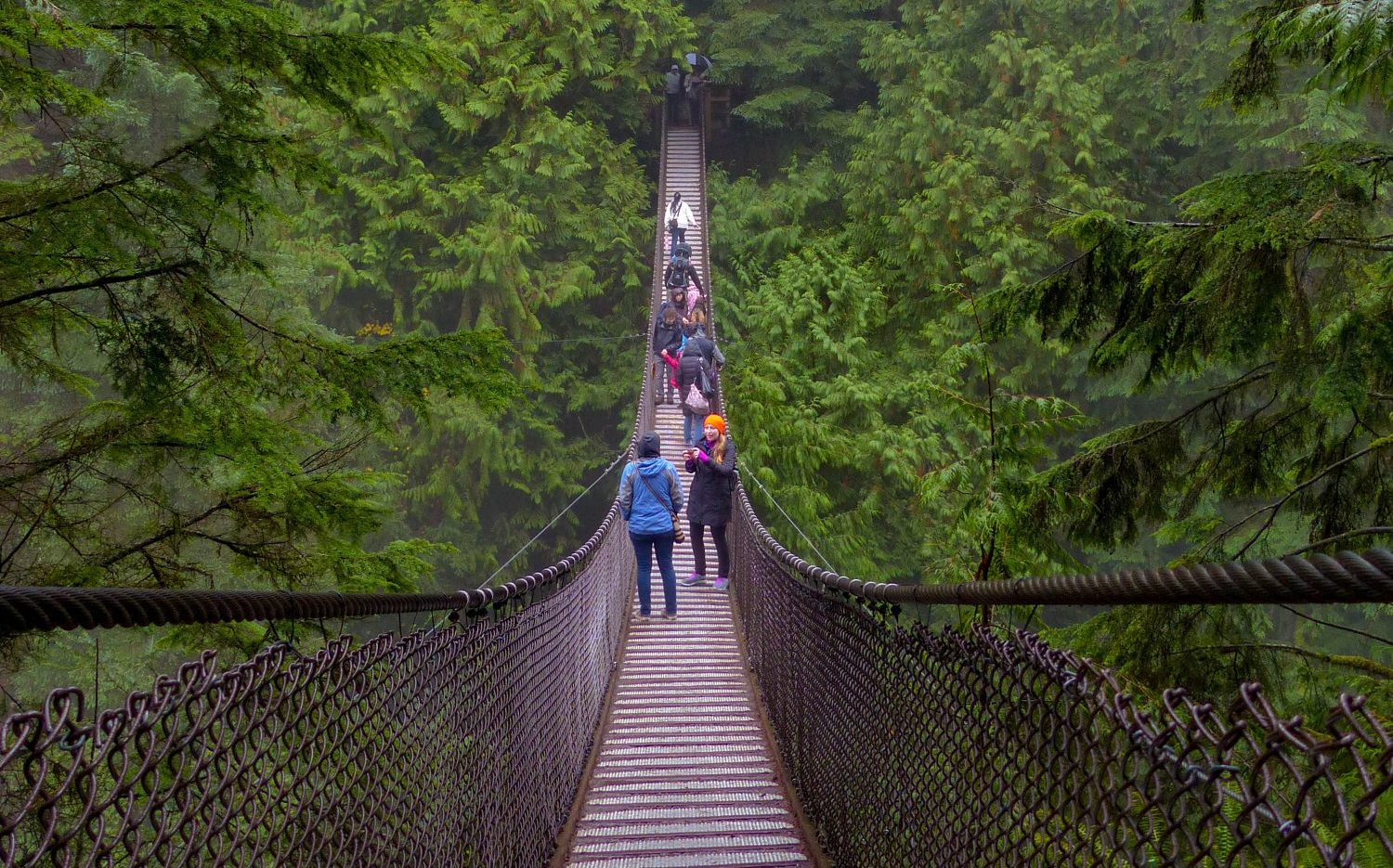 Lynn Canyon Suspension Bridge - Vancouver un autumn
