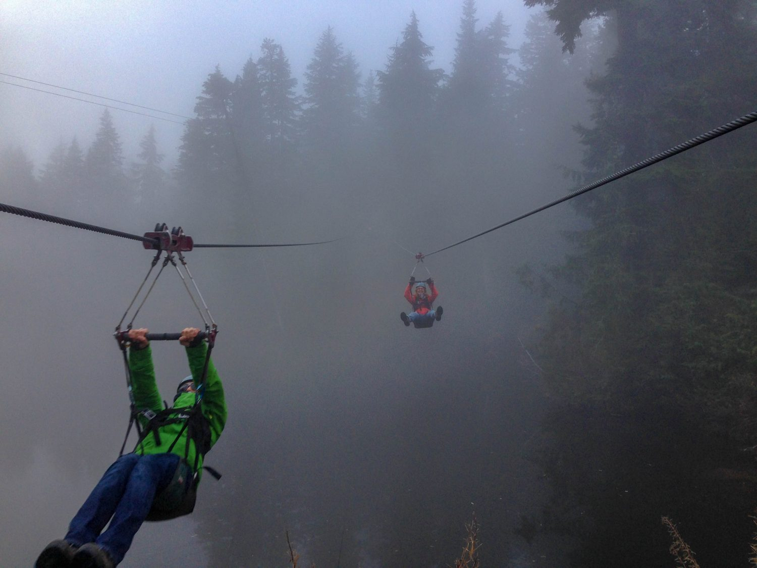 Grouse Mountain zipline - Vancouver un autumn