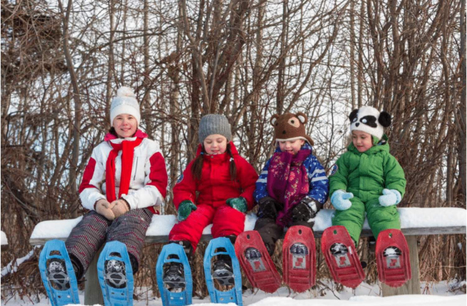Snowshoeing with the kids in Edmonton