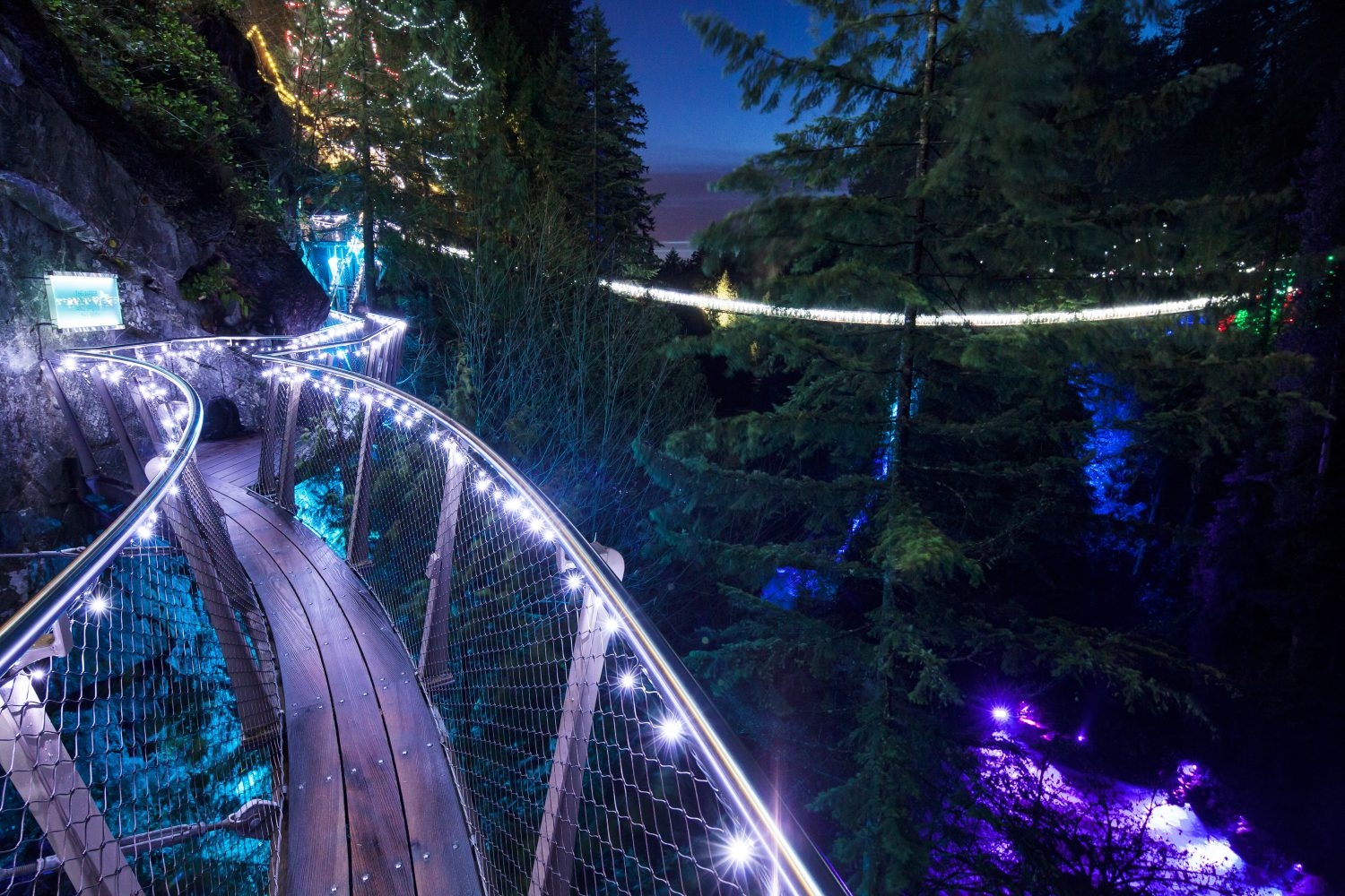 Canyon Lights Cliffwalk - Capilano Bridge - How to spend Holidays in Vancouver