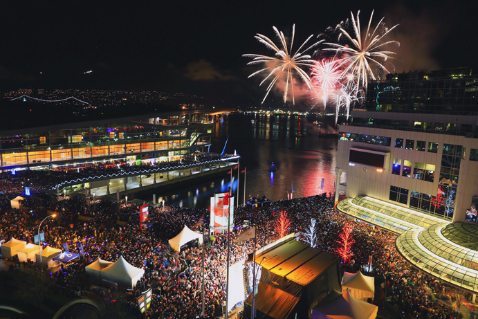 Fireworks at the New Years - How to spend Holidays in Vancouver