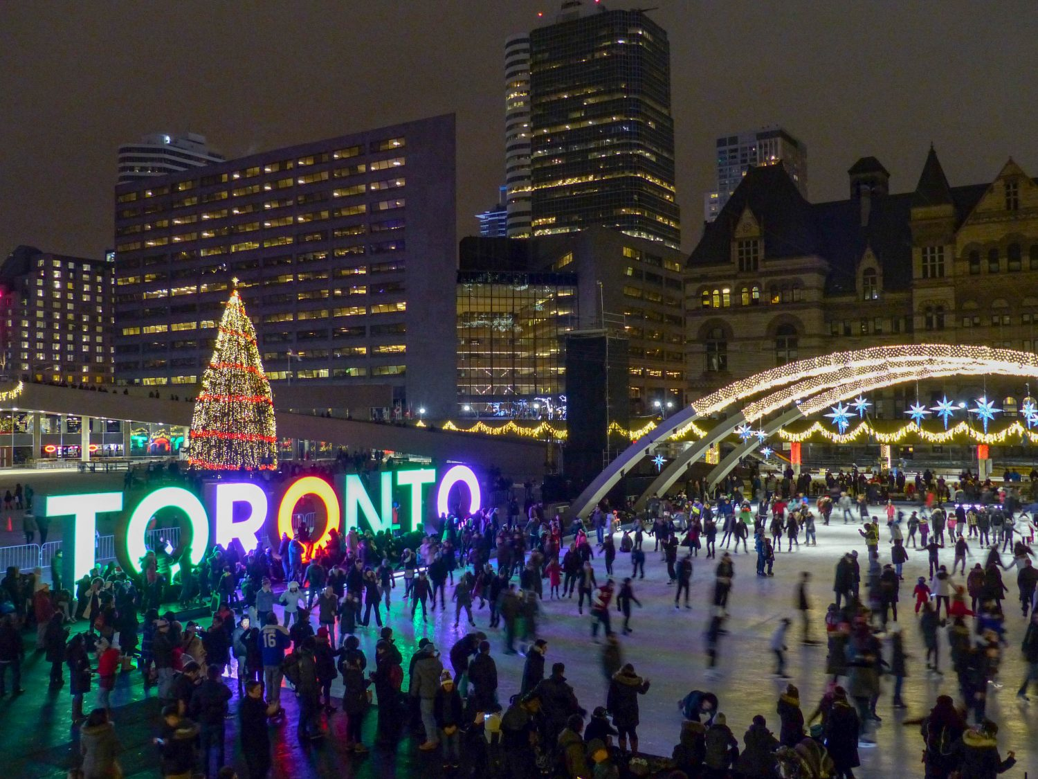 Nathan Philips Square - How to spend the holidays in Toronto