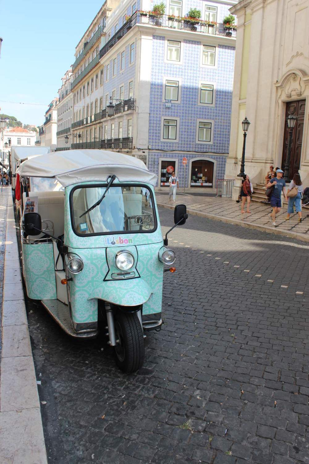 Small taxi in Lisbon, Portugal