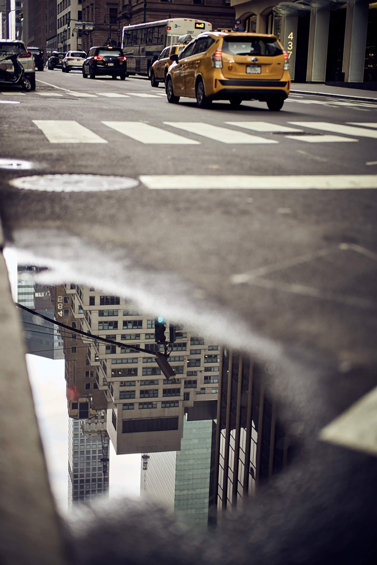 Water reflection in New York city