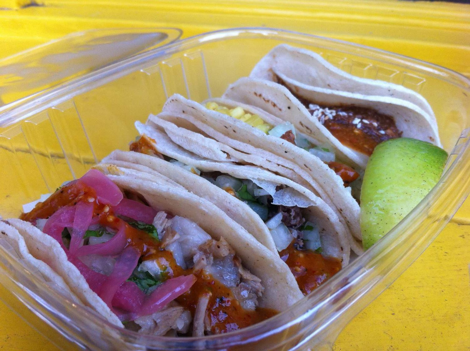 Tacos from the Taqueria Pinche in Vancouver