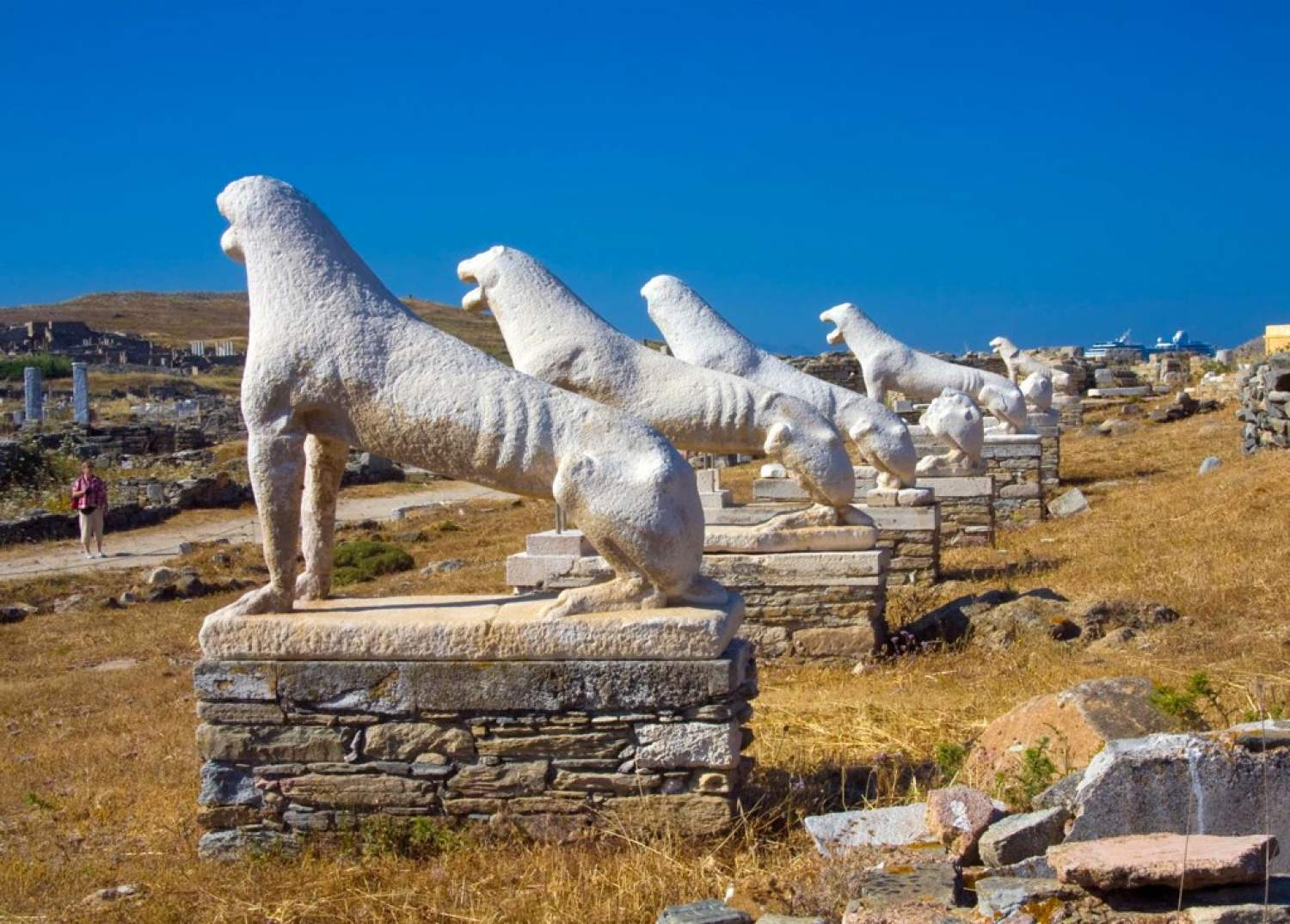 Delos ruins in Greece