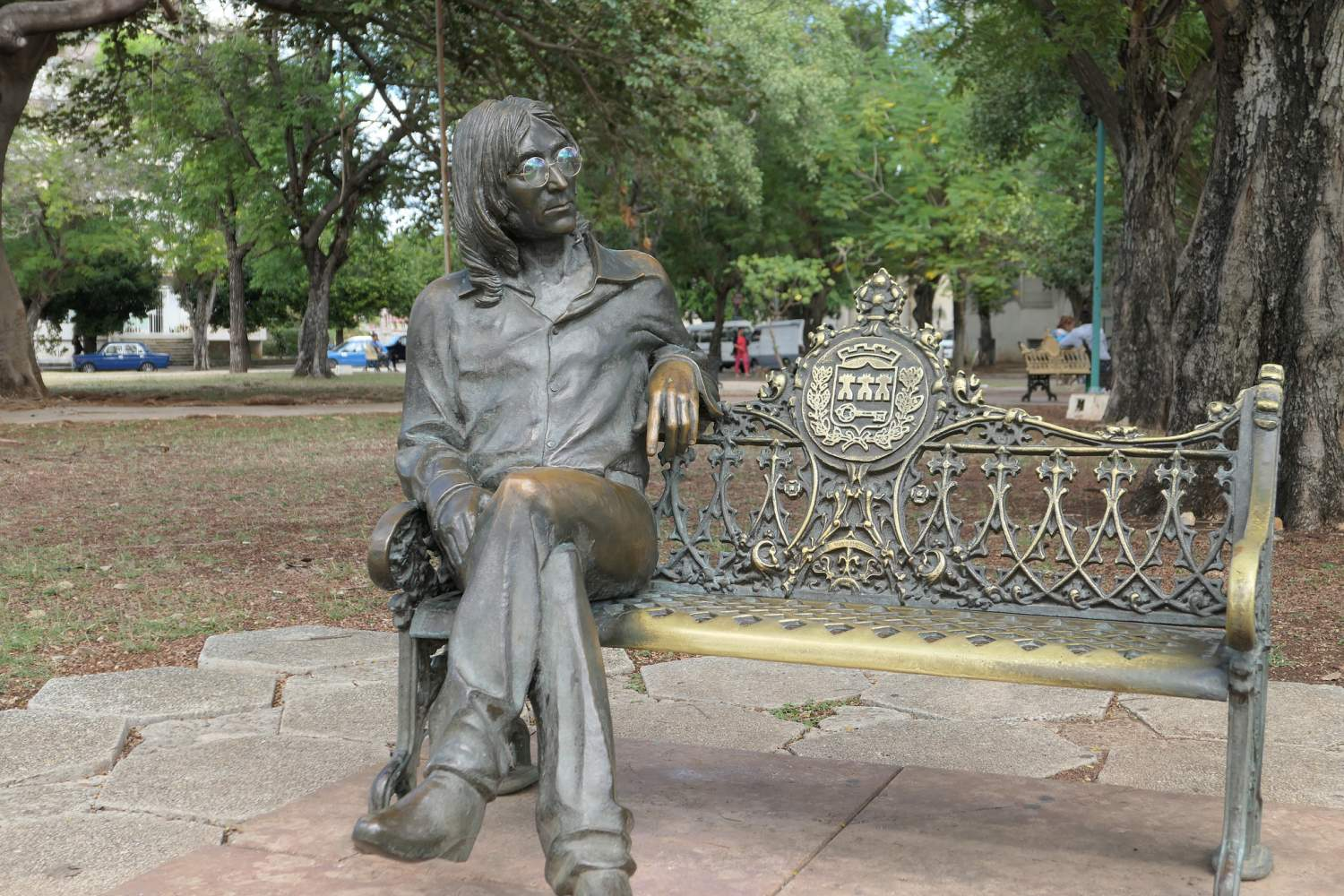 Statue of John Lennon in La Havana