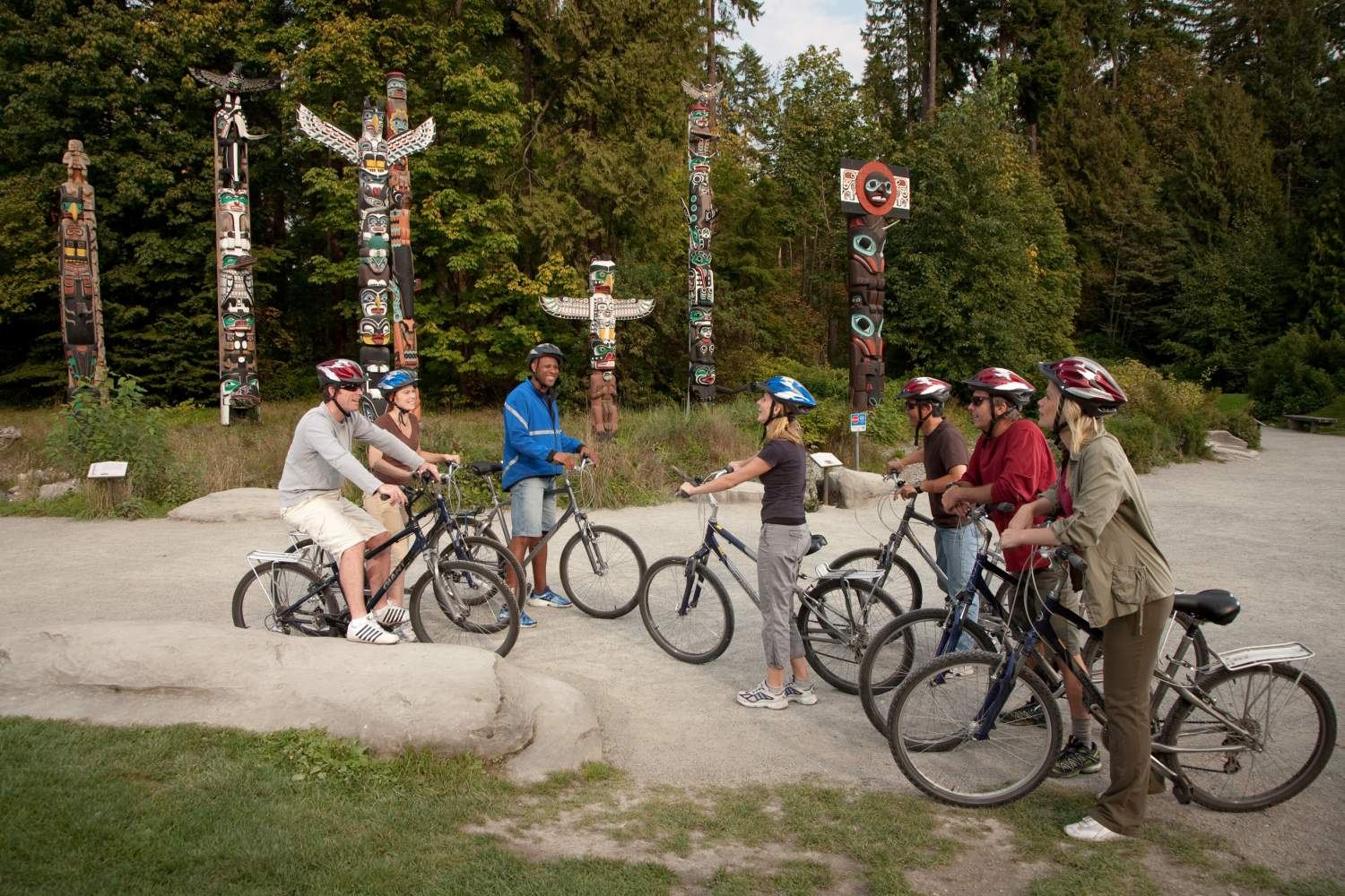 Cyclists in Stanley Park, Vancouver