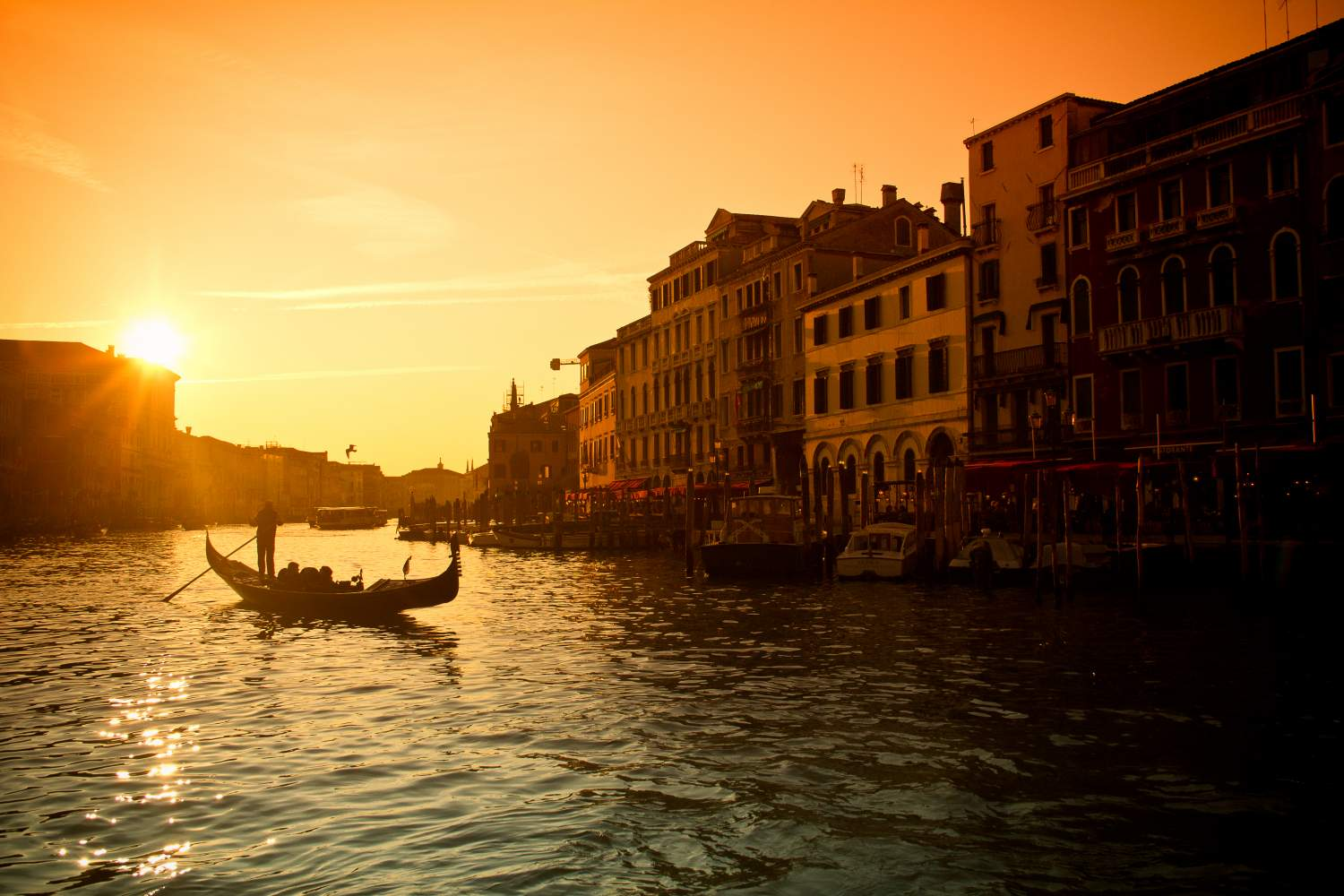Sunset on Venice, Italy