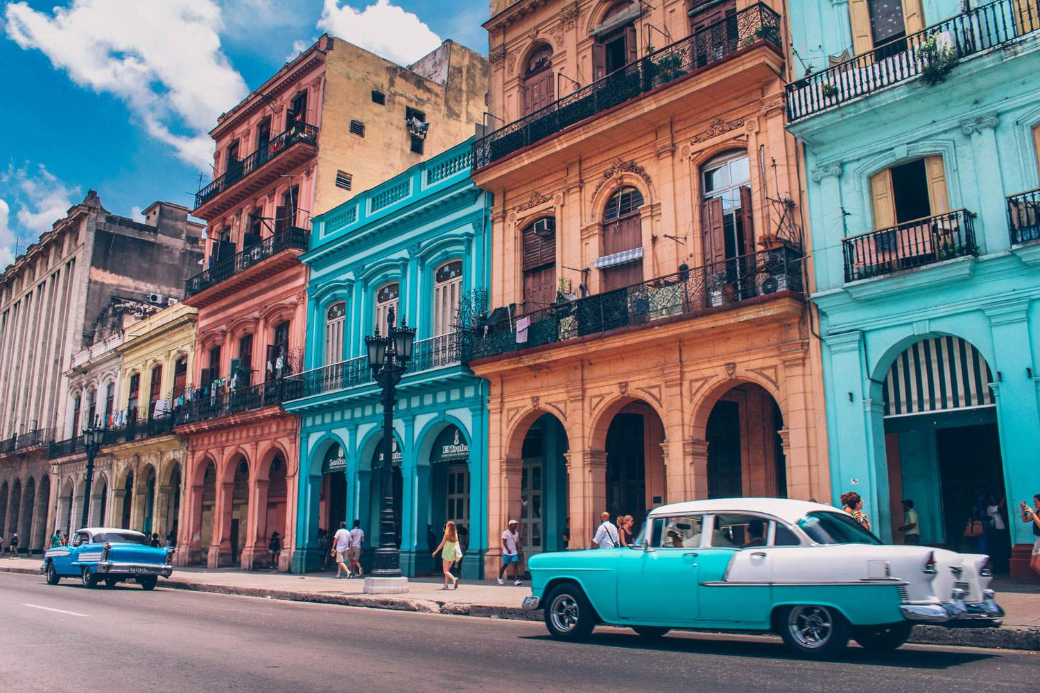 Beautiful buildings of Havana
