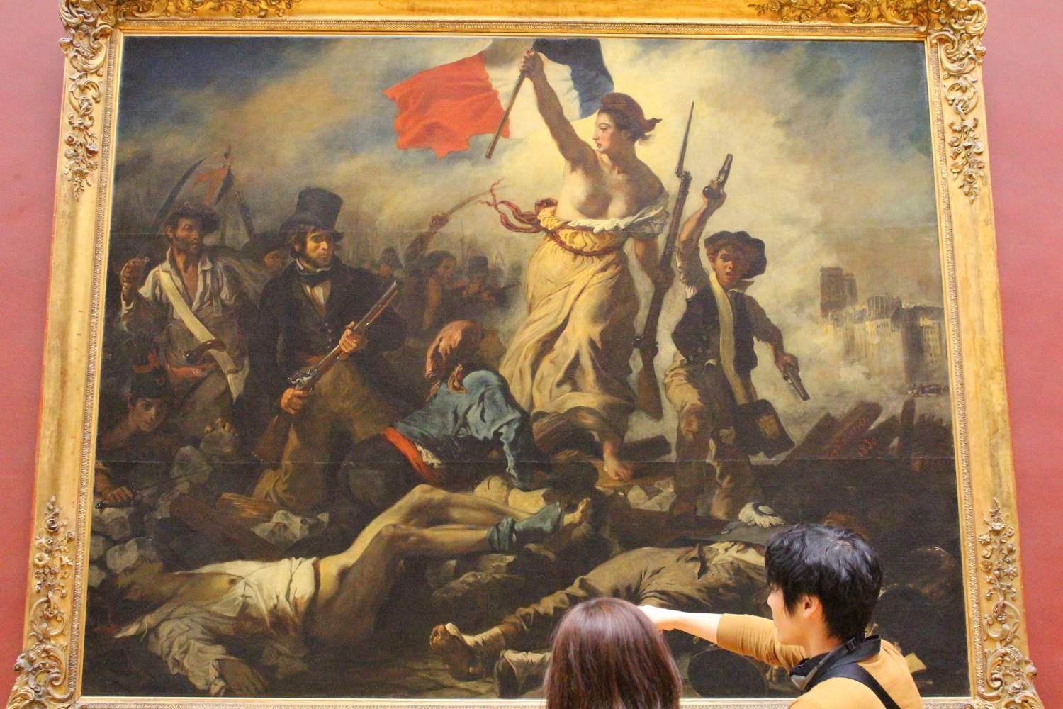 Liberty leading the people painting