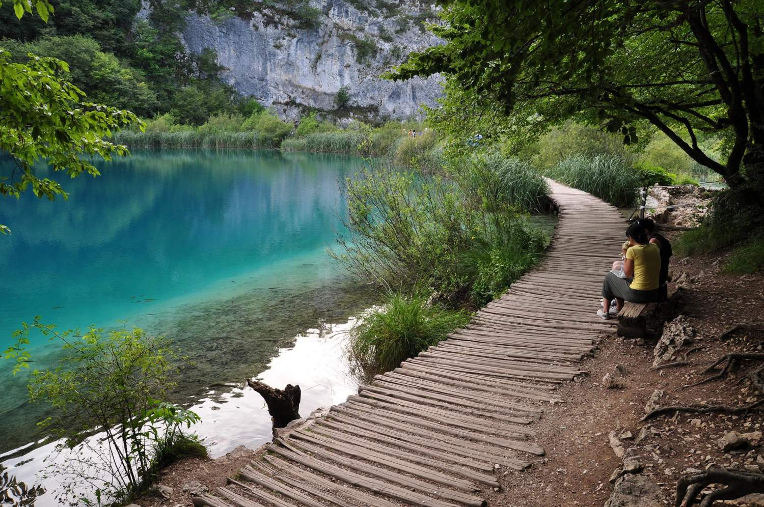Hiking at Plivitce national parc of Croatia