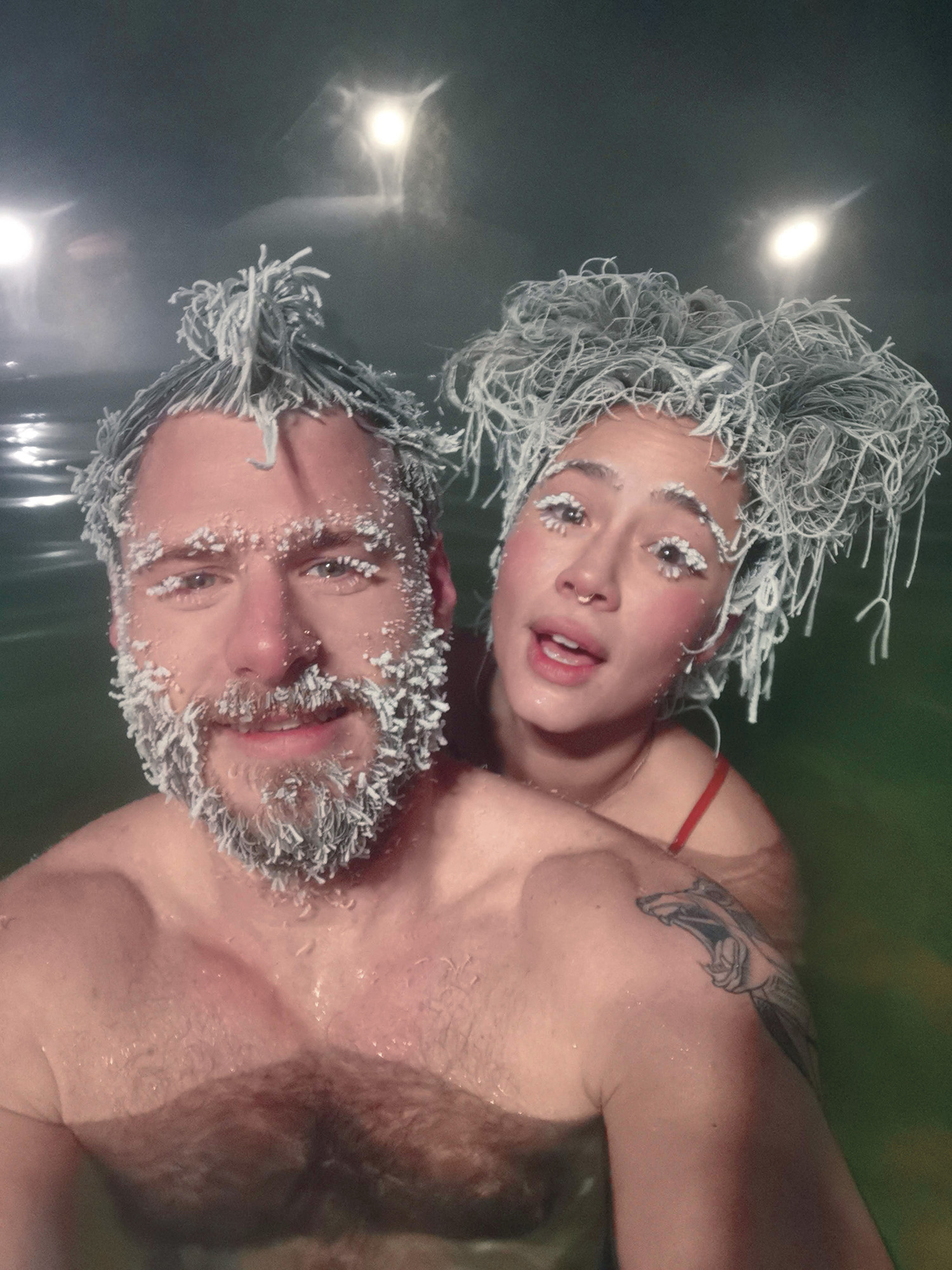 International hair freezing festival in Whitehorse, Yukon
