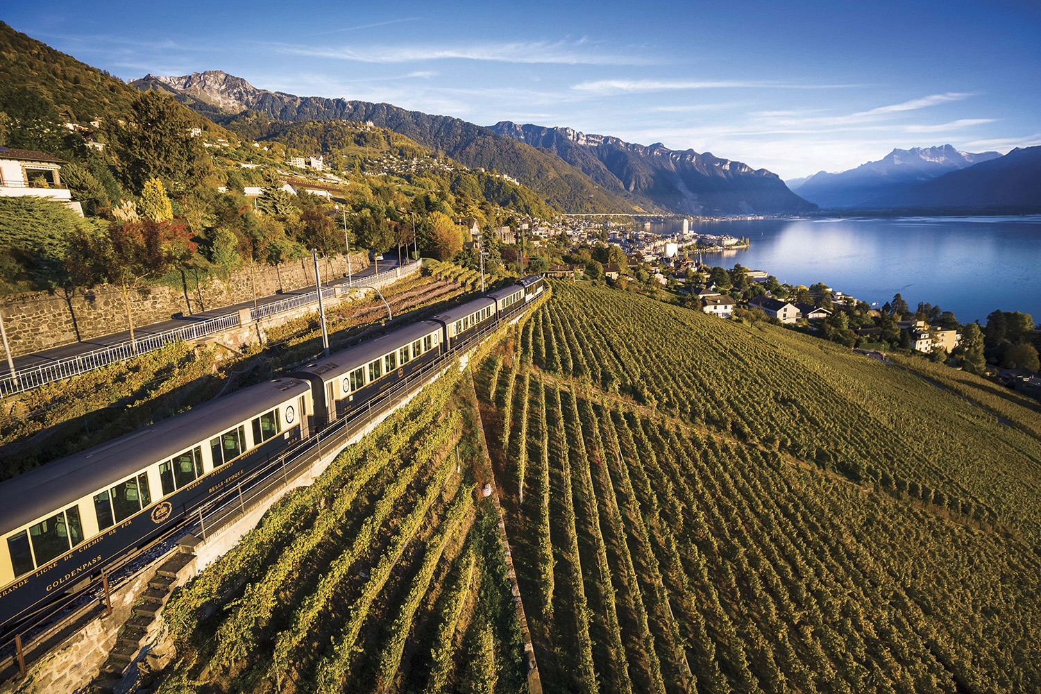 Chocolate train in Montreux-Berner, Switzerland