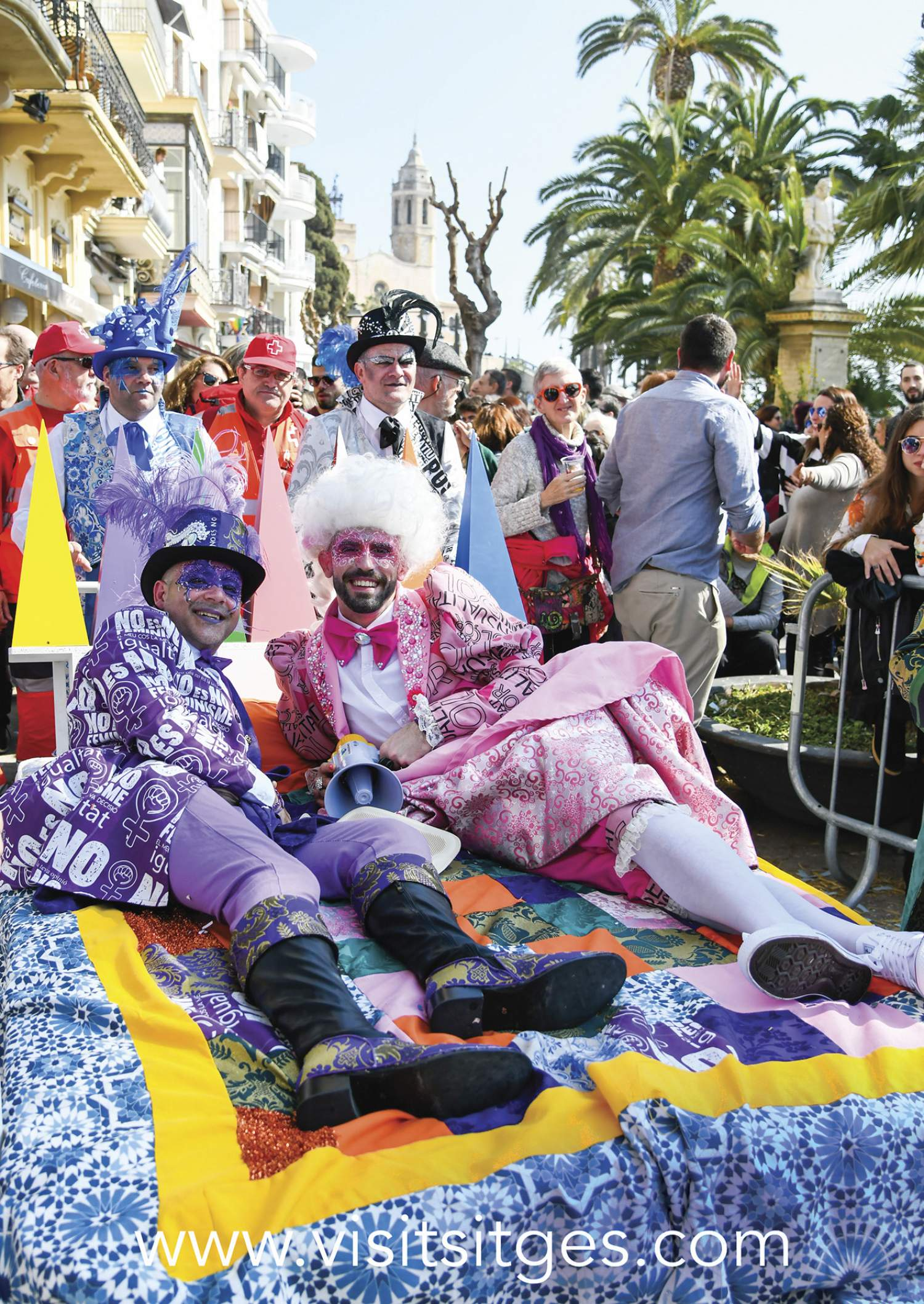 Sitges bed race, Spain