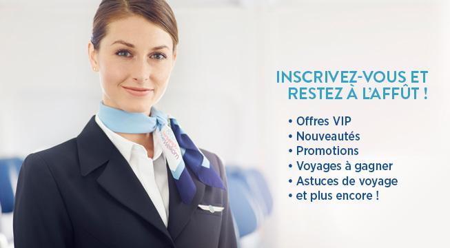 Restez à l'affût de nos offres VIP, des nouveautés, des promotions, des voyages à gagner et plus encore!