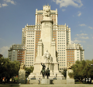 Madrid-Cervantes monument