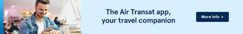The Air Transat app, your travel companion