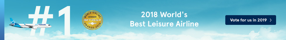 2018 World's Best Leisure Airline. Vote for us in 2019.
