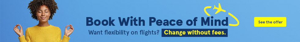 Book with Peace of Mind. Want flexibility on flights? Change without fees. See the offer.