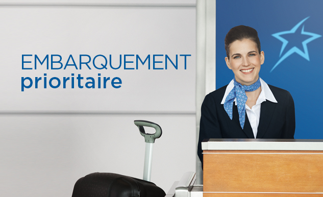 Embarquement prioritaire Option Plus Air Transat