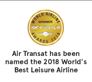 Air Transat has been named the 2018 World's Best Leisure Airline