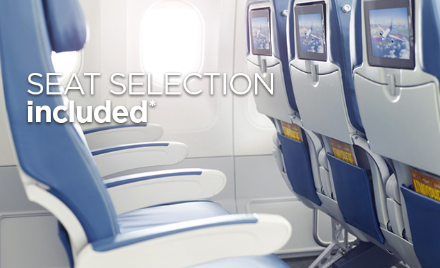 Seat selection Air Transat Option Plus